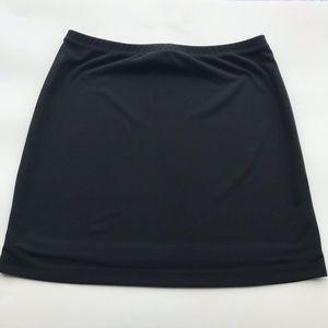 Athletic tennis black skirt